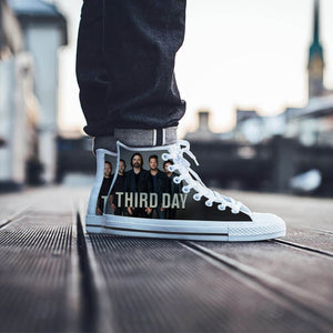 third day band mens high top sneakers