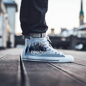 foo fighters mens high top sneakers