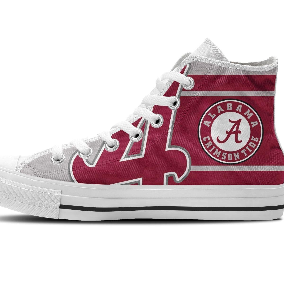 alabama crimson tide mens high top sneakers high top