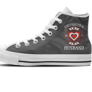 firefighters husband mens high top sneakers high top