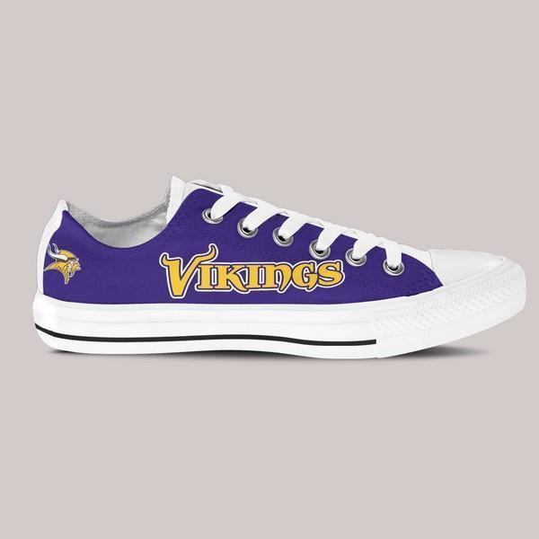 minnesota vikings mens low cut sneakers cut