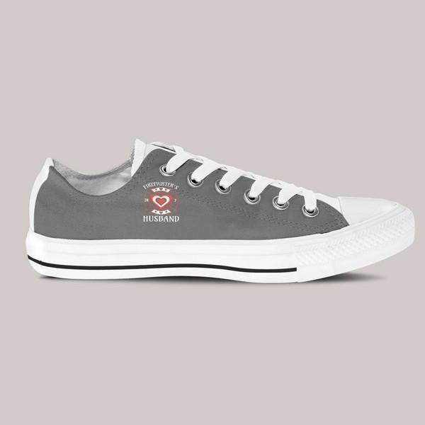 firefighters husband mens low cut sneakers cut