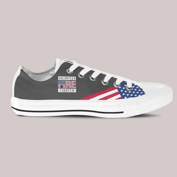 volunteer firefighter mens low cut sneakers cut
