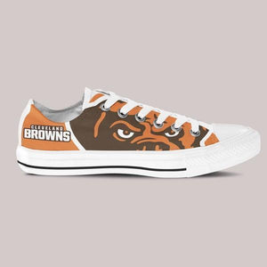 cleveland browns mens low cut sneakers cut