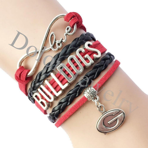 infinity love georgia bulldogs team bracelet free just pay shipping