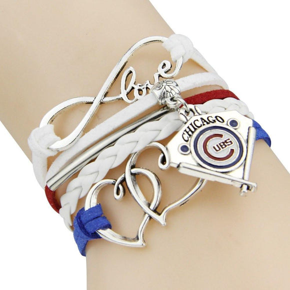 chicago cubs infinity love bracelet