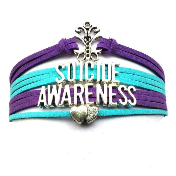 suicide awareness bracelet handmade leather free