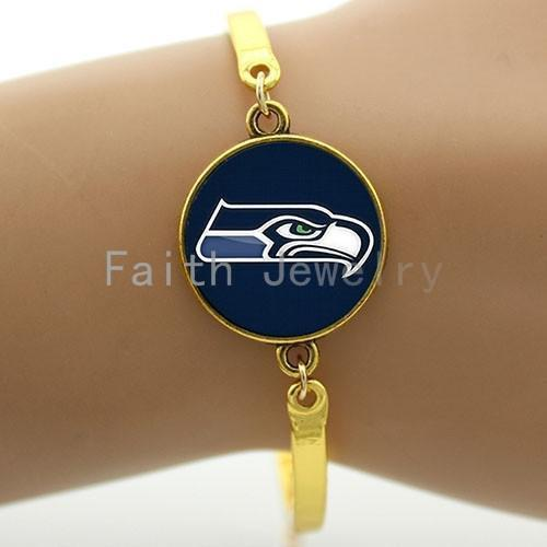 seattle seahawks golden bracelet
