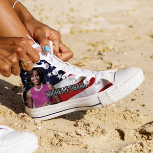 michelle obama ladies high top sneakers