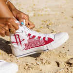 houston rockets ladies high top sneakers