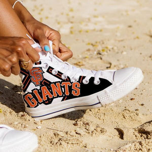 san francisco giants ladies high top sneakers
