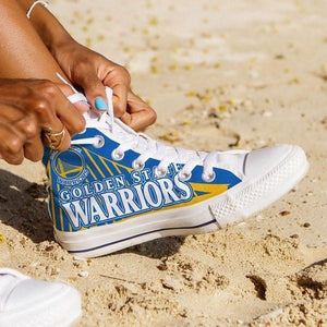 golden state warriors ladies high top sneakers
