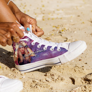 bret michaels ladies high top sneakers