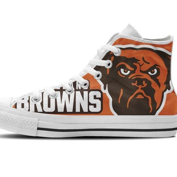 cleveland browns ladies high top sneakers