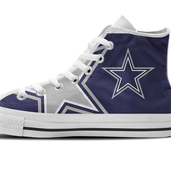 cowboys ladies high top sneakers