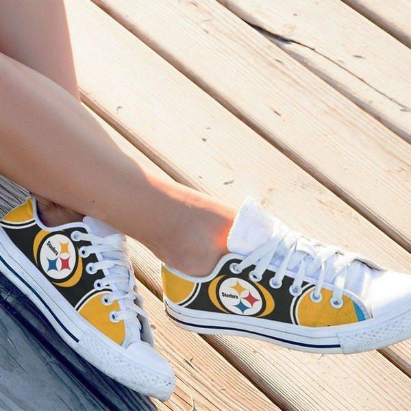 pittsburg steelers ladies low cut sneakers