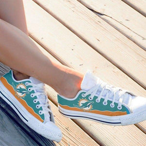 miami dolphins ladies low cut sneakers