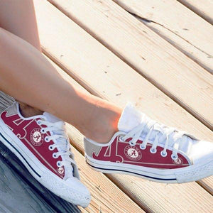 alabama crimson tide ladies low cut sneakers
