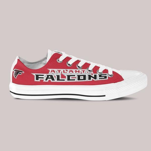 atlanta falcons ladies low cut sneakers