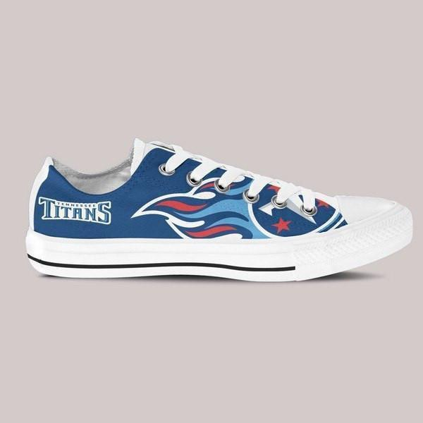 tennessee titans ladies low cut sneakers