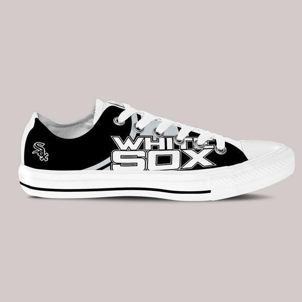 chicago white sox ladies low cut sneakers
