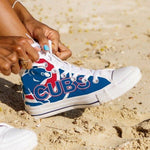 chicago cubs ladies high top sneakers