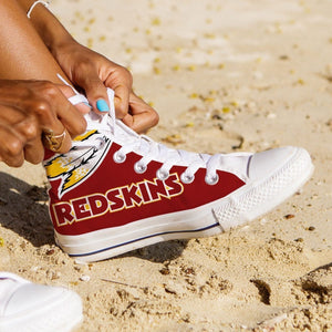 washington redskins ladies high top sneakers