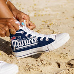 new england patriots ladies high top sneakers