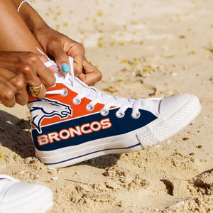 denver broncos ladies high top sneakers