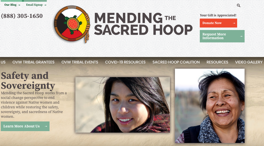 November 13% Blue Tax Beneficiary: Mending the Sacred Hoop