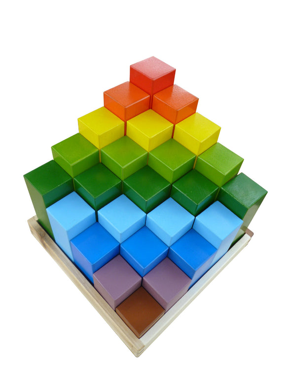 Rainbow Stepped Block Set