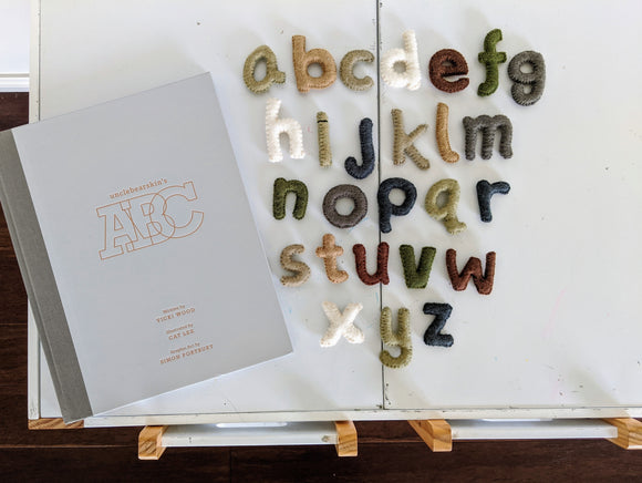 Wool Felt Alphabet, lowercase