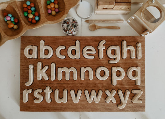 Wooden Alphabet Set, Lowercase