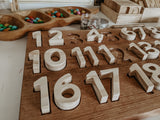 Wooden Number Puzzle, 1-20 set