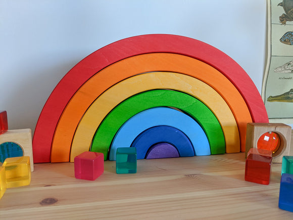 Bauspiel Large Rainbow, 7 piece