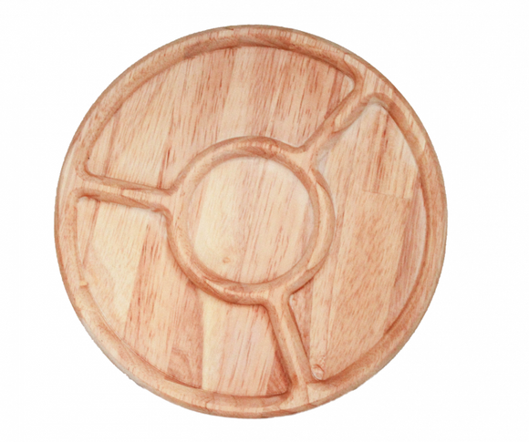 Round Sorting Tray, Natural