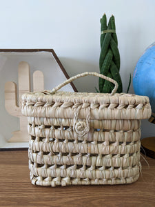 Kikadu Palm Leaves Small Basket