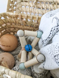 Natural Twisty Rattle, Blue