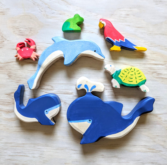 Wild + Ocean Collection - Holztiger Wooden Animals