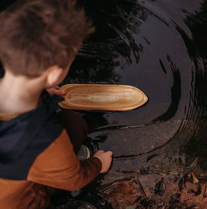 Ancient Wooden Canoe