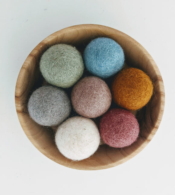 Felt Balls 3.5cm Earth Colours