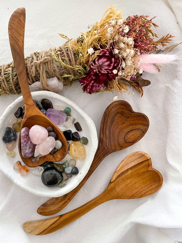 Teak Heart Spoon