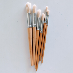 Paint Brushes - Round, pack of 6