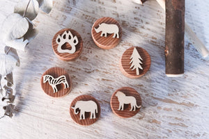 Wild Stampers, set of 6