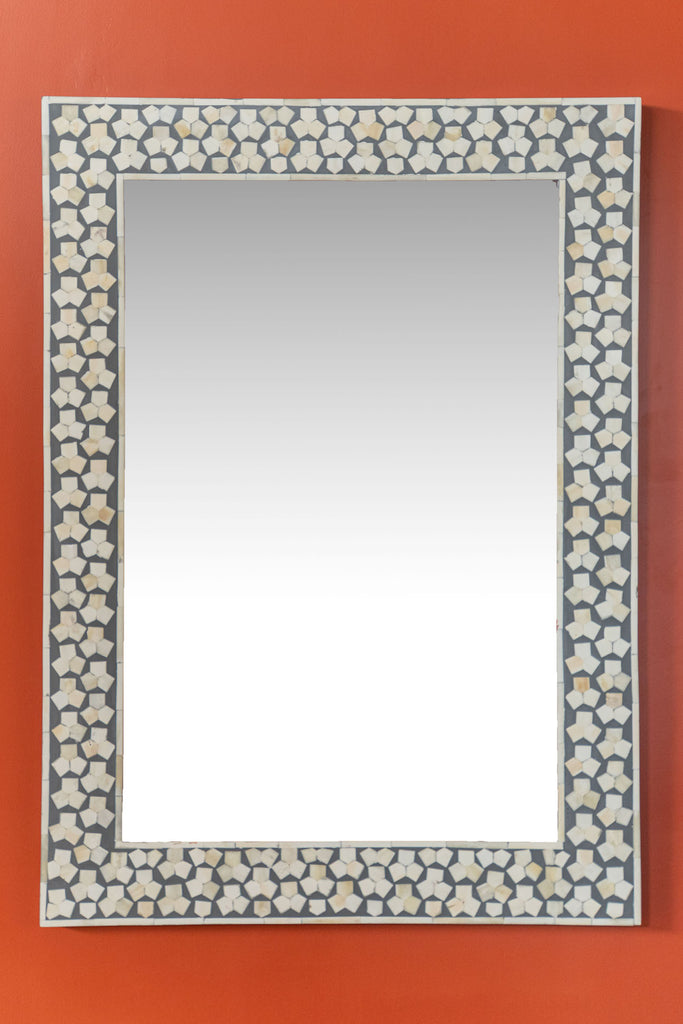 Grey Bone Inlay Wall Mirror