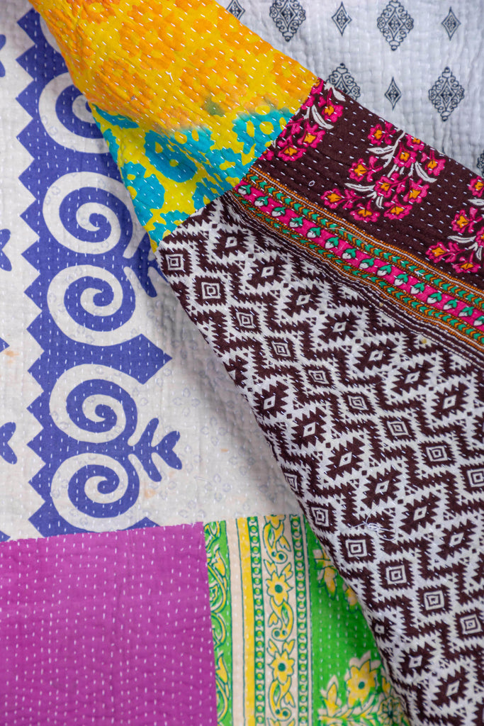 Vintage Kantha Throw - 142