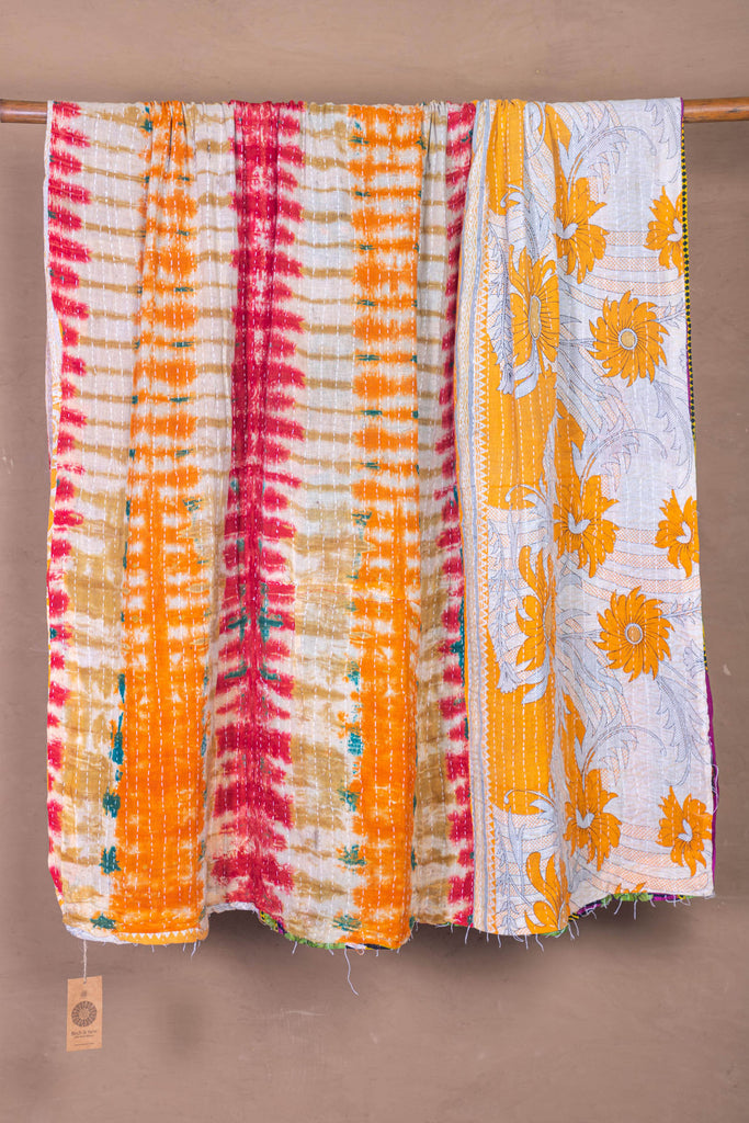 Vintage Kantha Throw - 116