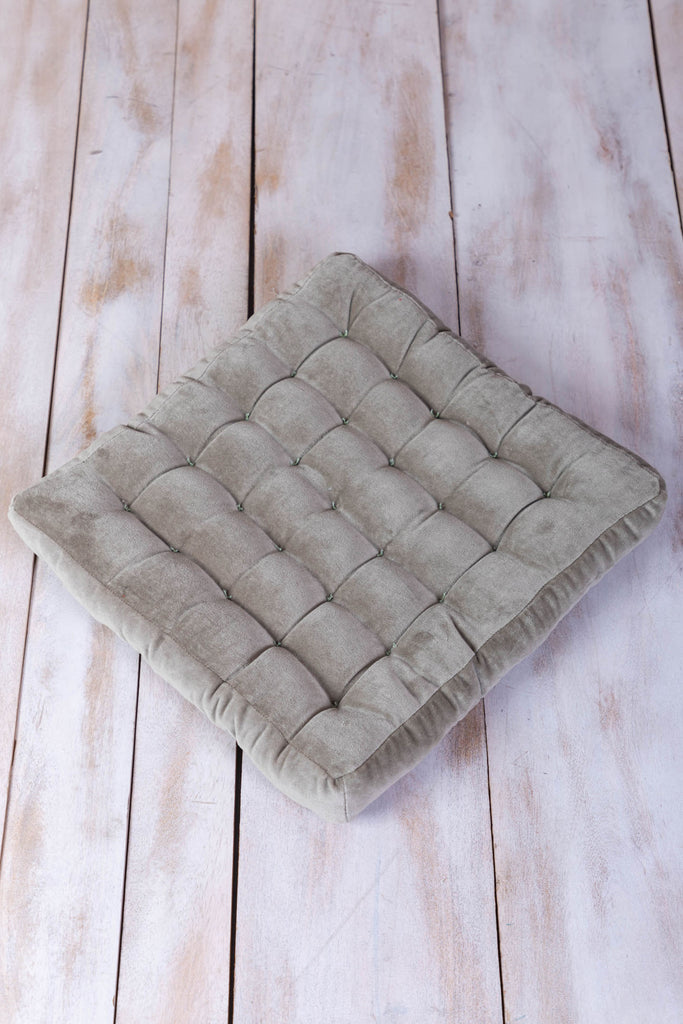 Ice Grey Velvet Seat Pad