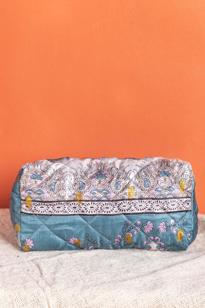 Recycled Saree Beauty Bag - 104