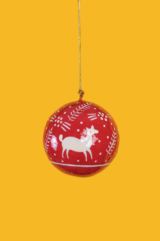 Red Silhouette Christmas Bauble